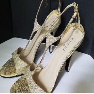 Gucci Snakeskin Slingback Heels/Sandals size 39.5